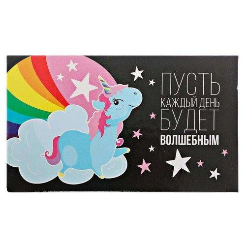 Купить ArtFox бумажный блок в пластиковом футляре Каждый миг будет волшебным 100 листов + 2 стикера (3374563) черный/розовый, Бумага для заметок