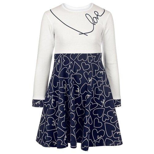 Платье M&D Love размер 104, темно-синий платье m bimbo размер 128 желтый темно синий