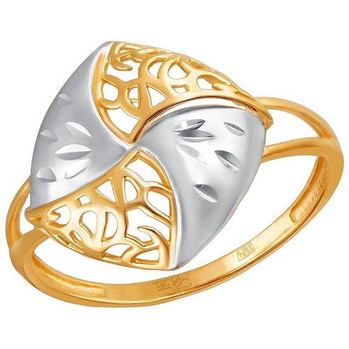 Эстет Кольцо из красного золота 01К7111822Р, размер 16.5