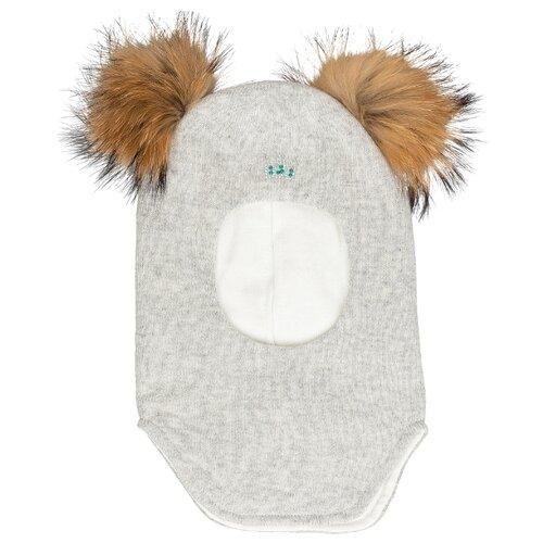 Шапка-шлем Gulliver Baby размер 46-48, серый