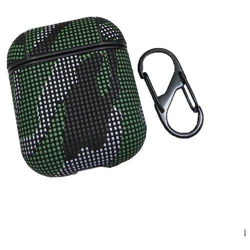 Чехол EVA для наушников Apple AirPods 1/2 - Хаки Зеленый CBAP26GR