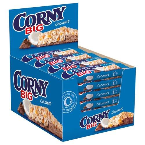 Злаковый батончик Corny Big Coconut с кокосом и шоколадом, 24 шт батончик злаковый poppins honey flakes bar со вкусом меда с белым шоколадом 25 г