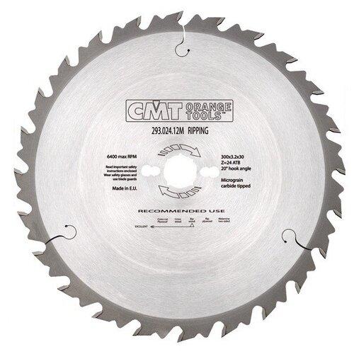 Пильный диск CMT 293.024.12M 300х30 мм диск пильный твердосплавный cmt 226 060 10m