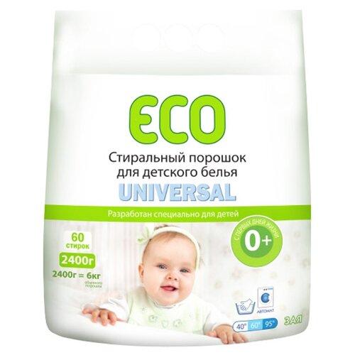 Стиральный порошок ECO Зая Universal пластиковый пакет 2.4 кг