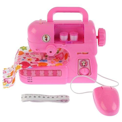 Купить Швейная машина Играем вместе Маша и Медведь B583808-R розовый, Детские кухни и бытовая техника