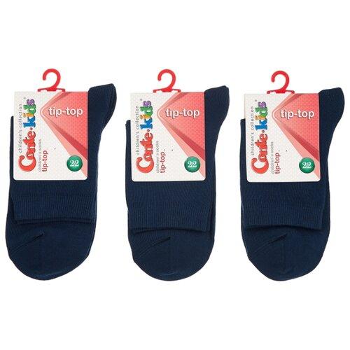 Носки Conte-kids комплект 3 пары размер 22, темно-синий носки conte kids размер 18 412 темно синий