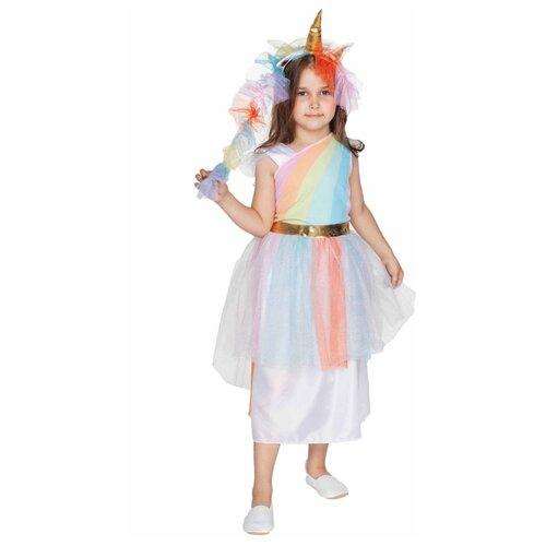 Купить Костюм ВКостюме.ру Радужный Единорог (1027661), белый, размер 113, Карнавальные костюмы