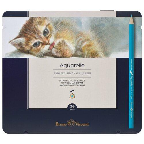 Bruno Visconti акварельные карандаши Aquarelle 24 шт (30-0064)