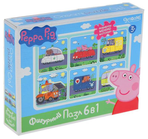 Набор рамок-вкладышей Origami Peppa Pig Транспорт (01565)