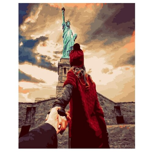 Купить ВанГогВоМне Картина по номерам Следуй за мной. Статуя свободы , 40х50 (ZX 20693), Картины по номерам и контурам