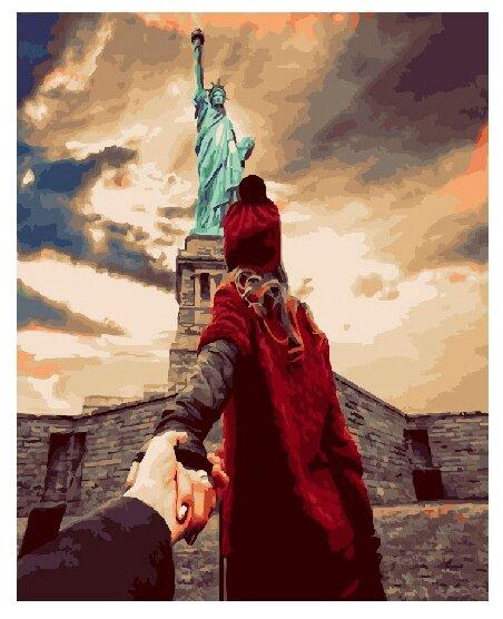 """ВанГогВоМне Картина по номерам """"Следуй за мной. Статуя свободы"""", 40х50 (ZX 20693) — купить по выгодной цене на Яндекс.Маркете"""