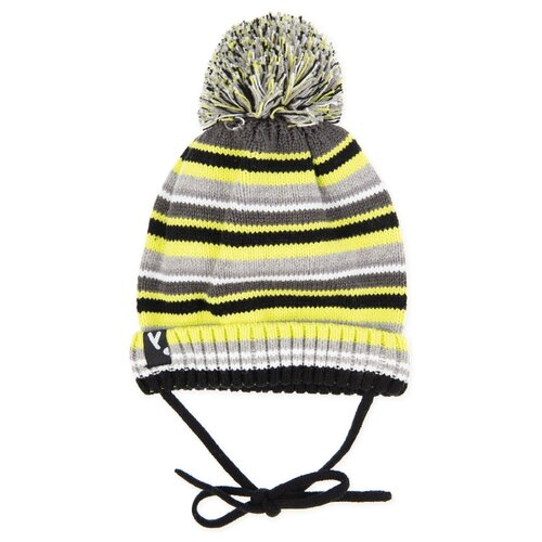 Шапка playToday размер 46, желтый/серый/черный шапка playtoday размер 46 сиреневый