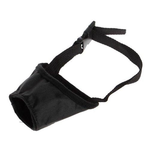 Намордник для собак Пижон текстильный, размер 1 (3680535), обхват морды 17 см черный