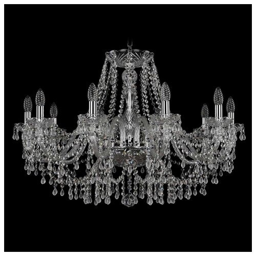 Люстра Bohemia Ivele Crystal 1410 1410/10/300/Ni/V0300, E14, 400 Вт bohemia ivele crystal 1410 6 160 ni v0300 sh2