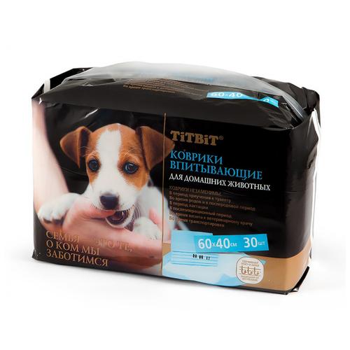 Коврики впитывающие для ухода за домашними животными 60х40 см (30 шт. - 1 упаковка)