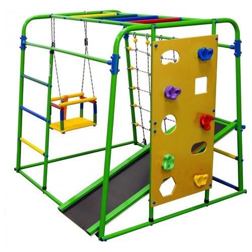 Купить Спортивно-игровой комплекс Формула здоровья Start baby 2 Плюс, зеленый/радуга, Игровые и спортивные комплексы и горки