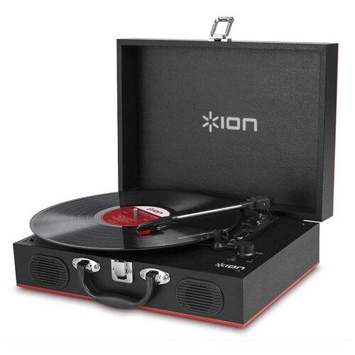 Виниловый проигрыватель Ion Vinyl Transport черный/красный