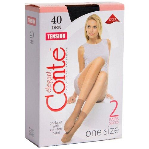 Капроновые носки Conte Elegant Tension 40 den 8С-7СП, 2 пары, размер 23-25, nero