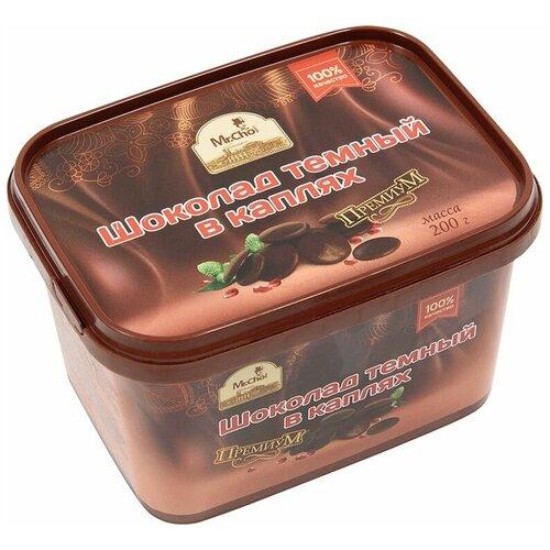 Шоколад Mr. Cho темный в каплях, 200 г недорого