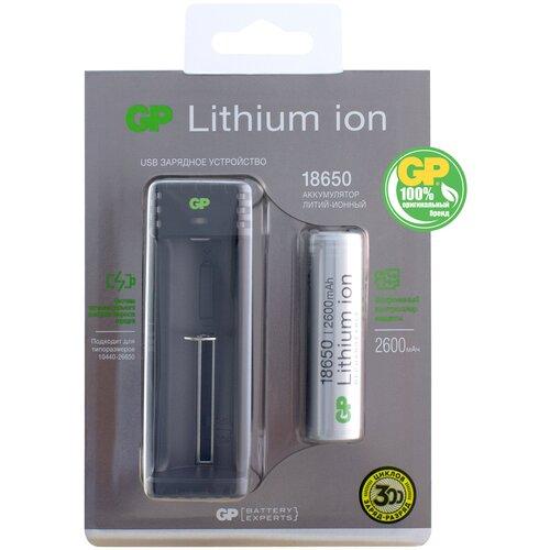 Фото - Аккумулятор Li-Ion 2600 мА·ч GP L1111865026FPE-2CRFB1, 1 шт. аккумулятор li ion 2600 ма·ч ansmann 18650 с защитой 1 шт
