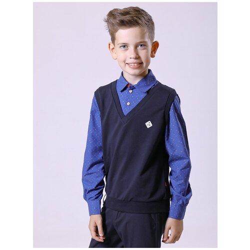 Рубашка Nota Bene размер 146, темно-синий