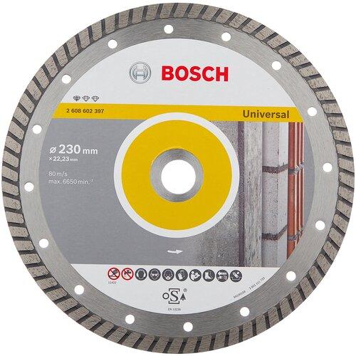 Фото - Диск алмазный отрезной BOSCH Standard for Universal Turbo 2608602397, 230 мм 1 шт. диск алмазный отрезной bosch standard for ceramic 2608602201 115 мм 1 шт