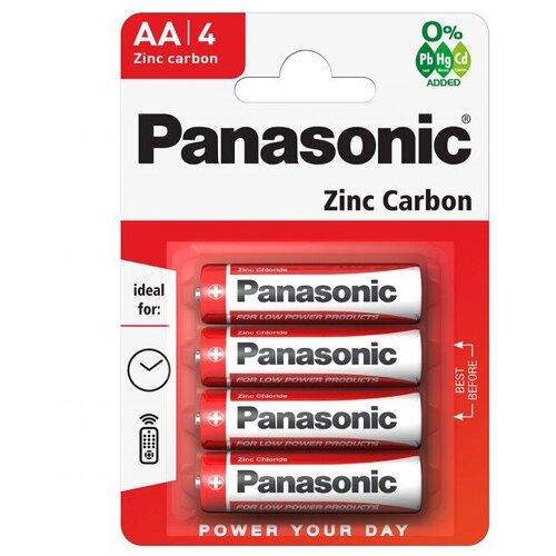 Фото - Батарейка Panasonic Zinc Carbon AA/R6, 4 шт. батарейка energizer max plus aa 4 шт