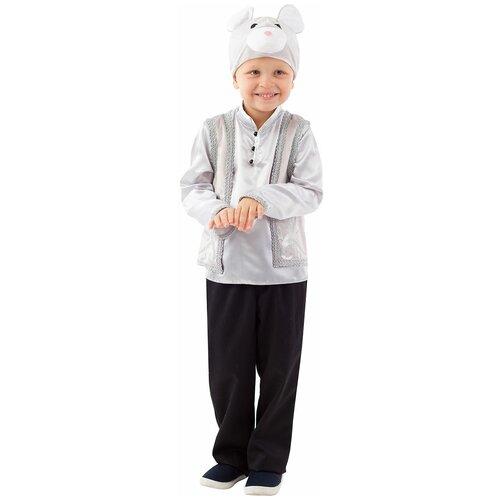 Купить Костюм пуговка Мышонок (1065 к-20), серый, размер 122, Карнавальные костюмы