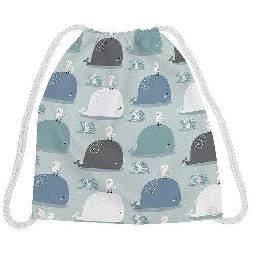 JoyArty Рюкзак-мешок Друзья чайка да кит bpa_164366, голубой/белый joyarty рюкзак мешок радужные окошки bpa 207087 голубой