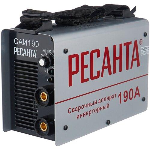 Сварочный аппарат инверторного типа РЕСАНТА САИ-190 + краги MMA сварочный аппарат инверторного типа ресанта саи 190 краги mma