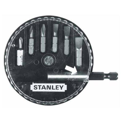 Набор бит STANLEY 1-68-735, 7 предм., черный/серебристый набор бит stanley 10шт 1 68 724
