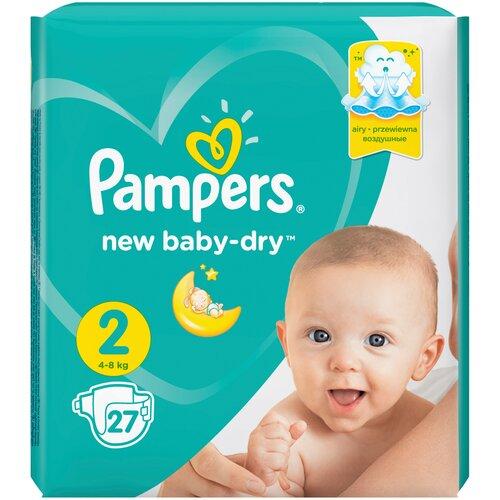 Фото - Pampers подгузники New Baby Dry 2 (4-8 кг), 27 шт. pampers подгузники new baby dry 1 2 5 кг 27 шт