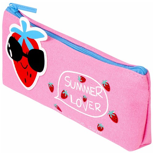 Фото - BRAUBERG Пенал-косметичка Cool Strawberry (228998) розовый пенал косметичка brauberg тайм