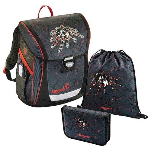 Купить Step By Step Ранец BaggyMax Fabby Dark Spider 3 предмета (1033198), серый, Рюкзаки, ранцы
