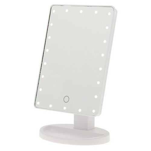 Зеркало косметическое настольное LuazON KZ-06 с подсветкой белый