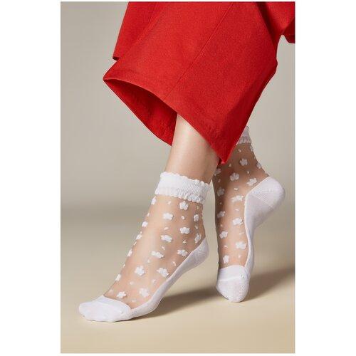 Капроновые носки Mersada Город за рекой 206093, размер 35-39, белый