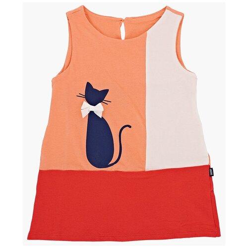 Фото - Платье Mini Maxi размер 104, персик комплект с полукомбинезоном arctiline 741 dmw 20 размер 104 персик персик