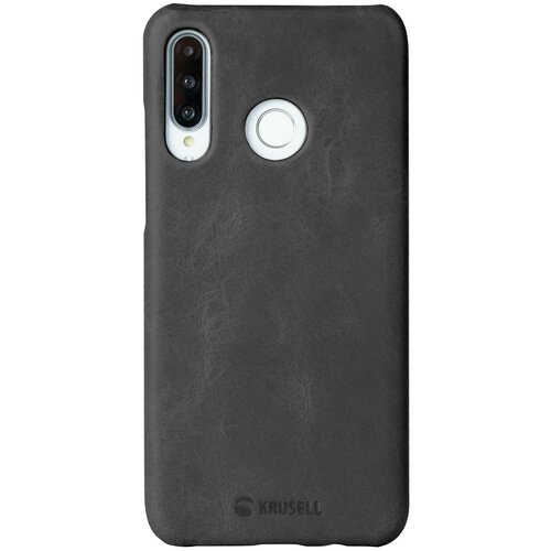 Чехол-накладка Krusell Sunne Cover для Huawei P30 Lite кожаный черный