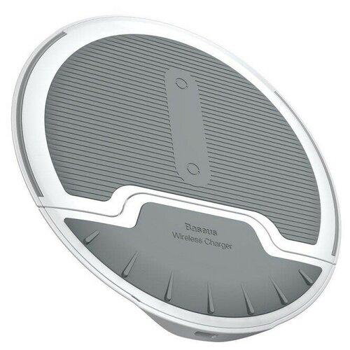 Фото - Беспроводная сетевая зарядка Baseus Foldable Multifunction Wireless Charger, белый/серый беспроводная сетевая зарядка baseus whirlwind desktop wireless charger черный