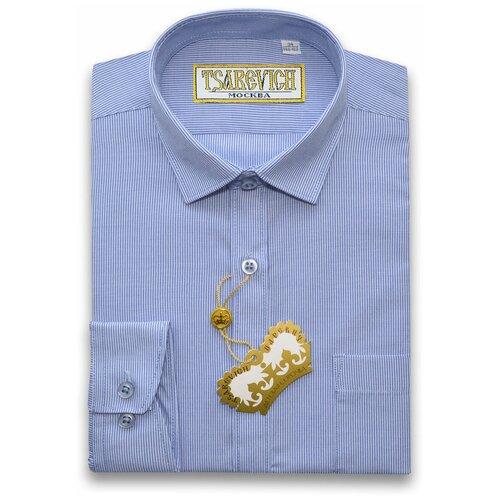 Рубашка Tsarevich размер 35/152-158, голубой