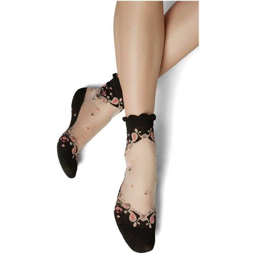 Носки Mersada Начни с начала, размер 36-41, черный/белый/пастельно-розовый