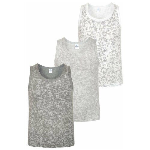 Купить Майка BAYKAR 3 шт., размер 110/116, белый/серый, Белье и пляжная мода