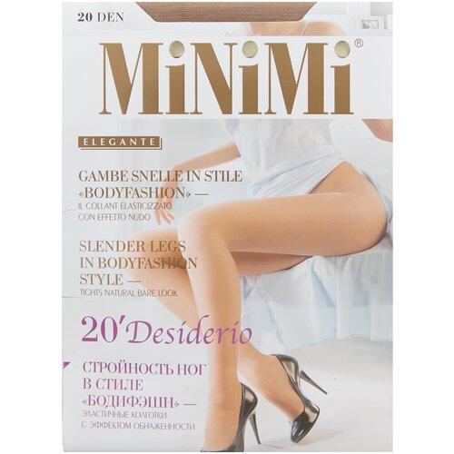 Колготки MiNiMi Desiderio (Nudo), 20 den, размер 4-L, daino (бежевый) колготки minimi calma 20 den размер 4 l daino бежевый