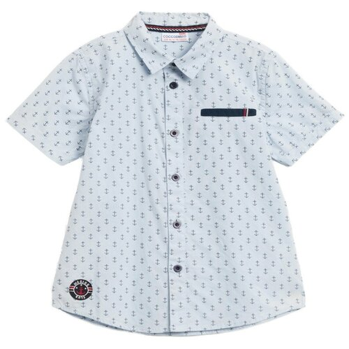 Фото - Рубашка COCCODRILLO размер 116, голубой рубашка fendi размер 116 кремовый