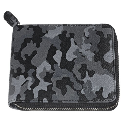 Фото - Портмоне ZIPPO 2006054 серый камуфляж натуральная кожа портмоне zippo серо чёрный камуфляж натуральная кожа 11 2x2x8 2 см
