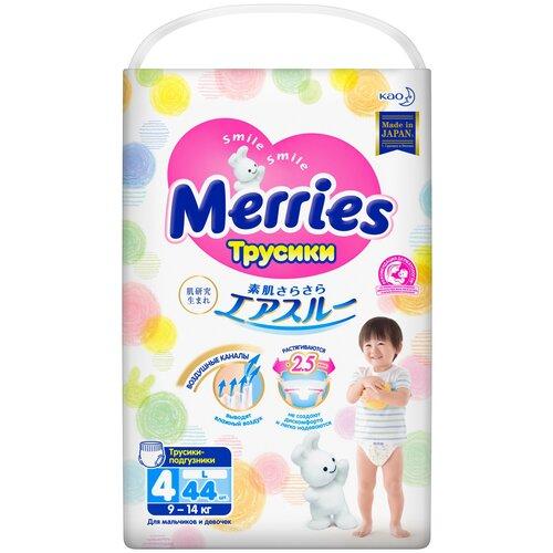 Купить Merries трусики L (9-14 кг), 44 шт., Подгузники