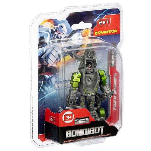 Трансформер BONDIBON 2в1 BONDIBOT BONDIBON робот-трицератопс, метал. детали, арт.E2006 (ВВ4999)