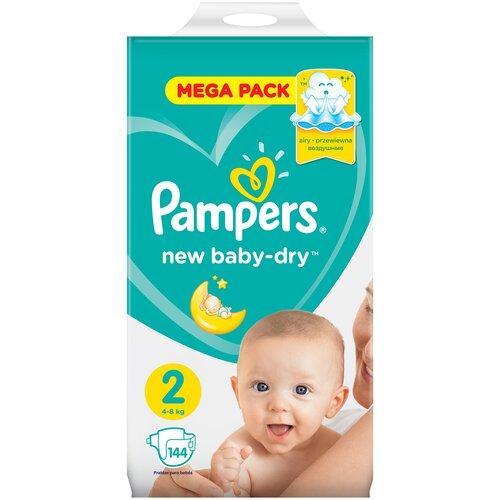 Фото - Pampers подгузники New Baby Dry 2 (4-8 кг), 144 шт. pampers подгузники new baby dry 1 2 5 кг 27 шт