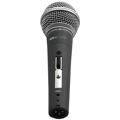 Микрофон Invotone PM02A, черный/серебристый