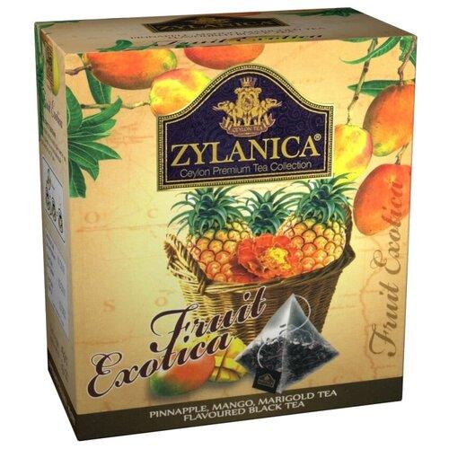 Чай черный Zylanica Fruit Exotica с ананасом, манго и календулой в пирамидках, 20 шт.